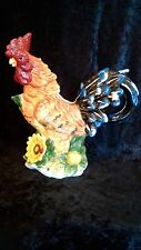 """Large Colorful Rooster Pitcher 12"""""""