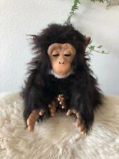 """Works FurReal Friends Cuddle Chimp Plush Monkey Animated Toy 14"""" Hasbro 2008"""