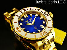 Invicta Mens Grand Diver Gen II Automatic Admiral Blue Dial Gold Plated SS Watch