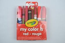 NEW Crayola My Color is Red - rouge, 8 Piece, Free Shipping