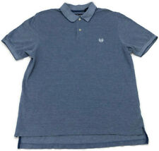 New listing Chaps Ralph Lauren Men's Polo Logo Blue Golf Rugby Style Shirt Size Large