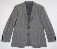 h by hickey freeman young glen plaid check wool sport coat jacket sz 44 R