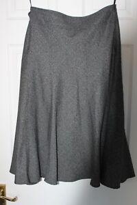 """Papaya Grey Calf Length Lined Skirt ~ Size 10 ~ 31"""" Waist ~ 31"""" Length VGC"""