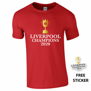 LIVERPOOL CHAMPIONS 2020 Tshirt Top Champions League Winners 19 Never Give Up