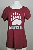 University of Montana Grizzlies Women's S/S Maroon T-shirt NCAA S M L XL XXL