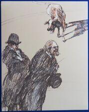 Claude WEISBUCH :  Les Avocats et le chien - LITHOGRAPHIE originale #1980