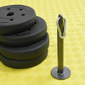 Weight Plate Loading Pin Bracket For Weight Standart Plates Dumbbell Home Gym