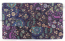 Kantha quilt Indian tapestry patchwork handmade bohemian bedspread king size