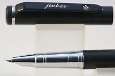 Jinhao No 155 Barley Polished Chrome Fine Fountain Pen with Gold Trim