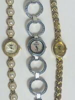 WORKING Ladies Watch Lot - NEW Batteries! Geneva Plyllis Vanity Fair - Womens