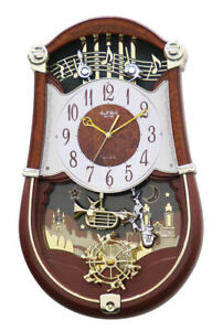 Rhythm Clocks Concerto Entertainer II Musical Motion Clock (4MH889WU23)