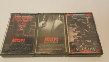 ACCEPT Cassette Tape Lot Eat The Heat Balls To The Wall Restless And Wild