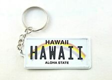 "Hawaii License Plate Aluminum Ultra-Slim Souvenir Keychain 2.5""x1.25""x0.06"""