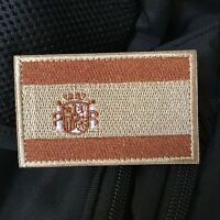 Embroidered Spain Spanish Flag Military Tactical Hook Loop Patch Badge
