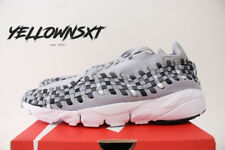 NIKE AIR FOOTSCAPE WOVEN NM SZ 9 WOLF GREY BLACK WHITE RUNNING SHOE 875797 004