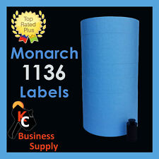 New ListingMonarch 1136 price gun labels Blue, ink roller included - two line price labels