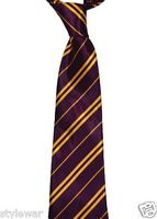 NEW PURPLE YELLOW GRIFFINDOR TIE HOGWARTS WORLD BOOK WEEK TIE
