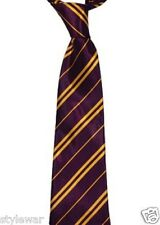 NEW PURPLE YELLOW HARRY POTTER STYLE GRIFFINDOR TIE HOGWARTS WORLD BOOK WEEK TIE