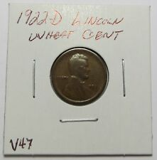 1922-D LINCOLN WHEAT CENT -  KEY DATE - SLIGHTLY ROTATED ~ Comb.Ship. ~ LOT V47