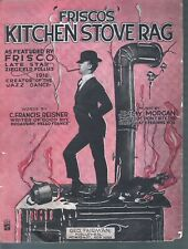 Frisco's Kitchen Stove Rag 1919  Sheet Music