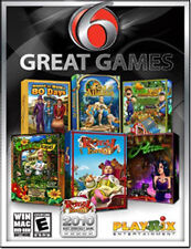 6 Great Games - Six Puzzle PC Game Compilation Collection for Windows - NEW!