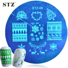 Nail Art Stamping Plates Image Plate Decoration Christmas Knitted Snowflakes S04