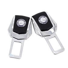 2x Car Auto Parts Interior Accessories Safety Seat Belt Plug Clip Logo For Benz
