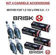 DR17YC-9 4 CANDELE BRISK FIAT STILO,MULTIPLA,BRAVO I 1.6 16V,SEICENTO,PANDA FIRE