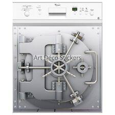 Magnet lave vaisselle déco coffre fort  60x60cm réf 027 027