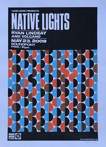"Unwed Sailor / Native Lights Show Poster - Denny Schmickle- 18x24"" Hand Screened"