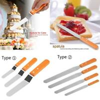 4/6/8/10 Inch Stainless Steel Butter Cake Cream Knife Spatula Pastry Baking Tool
