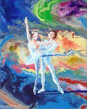 Ballerina, Summer Story #3, Original Acrylic Abstract Painting, Artist Signed
