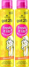 2x Schwarzkopf Got2b Fresh It Up BLONDE Dry Shampoo 200ml