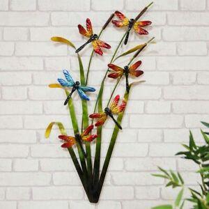 Large Stunning Metal Wall Art Decor Dragonflies Garden or Home