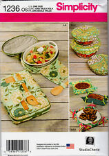 Simplicity Pattern 1236 for Casserole Carriers, Gifting Baskets and Bowl Covers