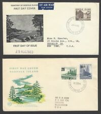 45 Norfolk Island 1960 surcharges on 3 FDCs (3)