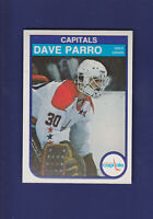 Dave Parro RC 1982-83 O-PEE-CHEE OPC Hockey #371 (NM+) Washington Capitals