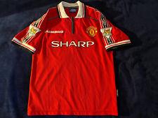 1999 Umbro Manchester United Home Jersey #7 David Beckham Size M