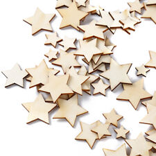 5Pcs Unfinished Wood Bead Wood Five-pointed Star Loose Beads Charms Decor CB