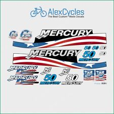 MERCURY Marine 50 HP Outboadrs Motor USA Laminated Decals Boat Kit Stickers