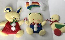 Wooltex Quiltex 1985 Mimi Miller Bedroom Wall Hanging Bear Rainbow Duck Rabbit