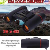 30 x 60 Portable Mini Binoculars Zoom Outdoor Travel Folding Telescope w/ Bag US