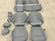 FACTORY OEM REPLACEMENT CLOTH SEAT COVERS MEDIUM GREY 2015 FORD F150 SUPER CREW
