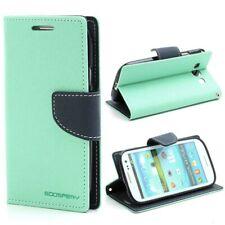 Samsung Galaxy S3 / III I9300 Wallet Case- Dark Blue / Cyan