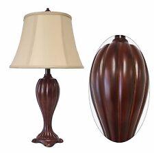 """26"""" Premium Traditional Dark Brown Wood Finish Table Lamp Desk Lamp Classic Lamp"""