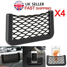 "4X 6"" Car Net Seat Side Holder Elastic Storage Bag Pocket Organizer String Phone"