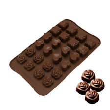 Silicone Mould Cake Decorating Chocolate Baking Mold Rose Hearts Wax Melts Ice