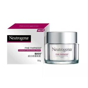 Neutrogena Fine Fairness Overnight Cream Whitening Brightening dark spots 50 g.