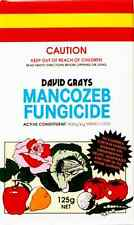 Mancozeb Fungicide 125g David Grays Downy Mildew Rust Fungal Fungi Leaf Spot