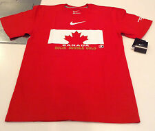 Team Canada 2014 Sochi Winter Olympics Double Gold Medalist Hockey M T Shirt
